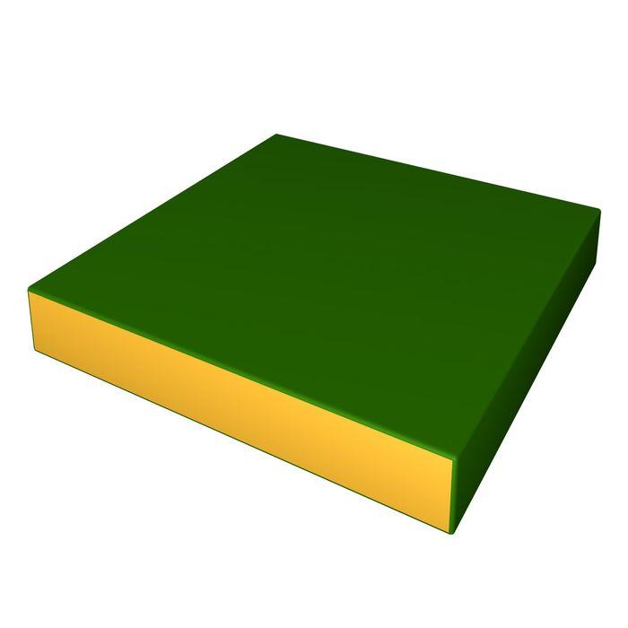 Мат 600х600х100, цвет зеленый/жёлтый