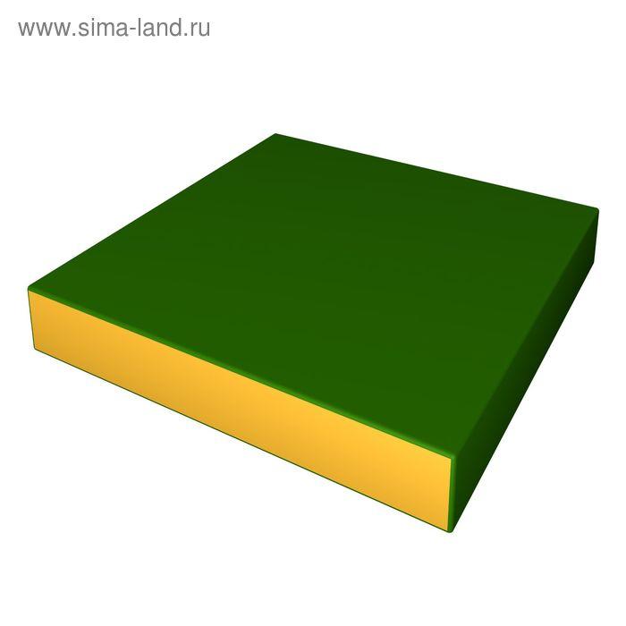 Мат 600х600х100 цвет зеленый-желтый