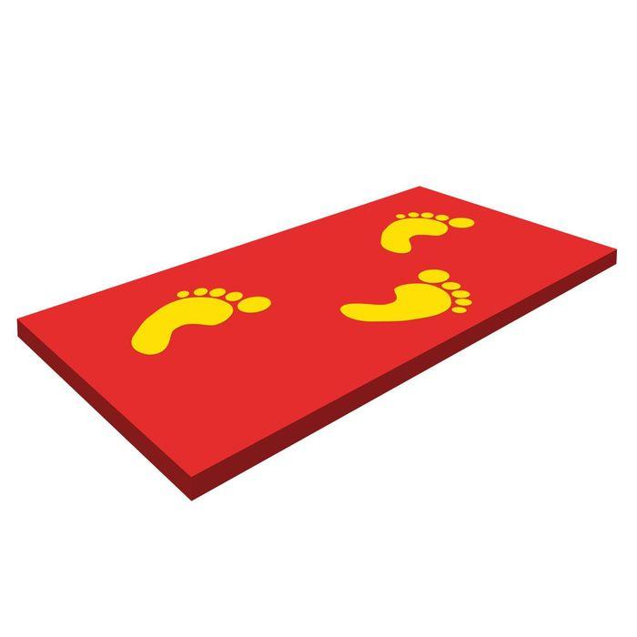 Коврик «Босоножка», стандартный, цвет красный