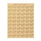 """Бриллир """"Сердечки и надпись Love"""", золото, 24 наклейки на листе А6"""