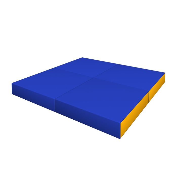 Мат складной, ДМФ-ЭЛК, цвет синий/жёлтый