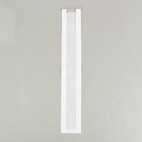Пакет бумажный фасовочный, белый, с окном, V-образное дно 10(5) х 5 х 64 см Ош