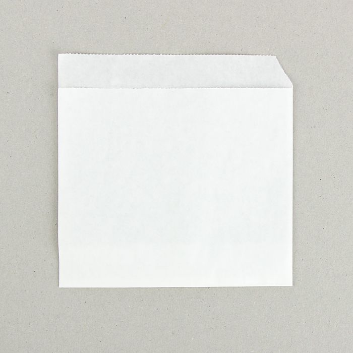 Пакет бумажный фасовочный, «Уголок», из жировлагостойкой бумаги 14 х 14 см