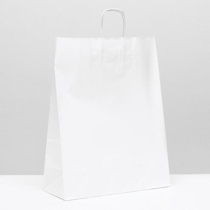 Пакет крафт без печати 35 х 15 х 45 см белый