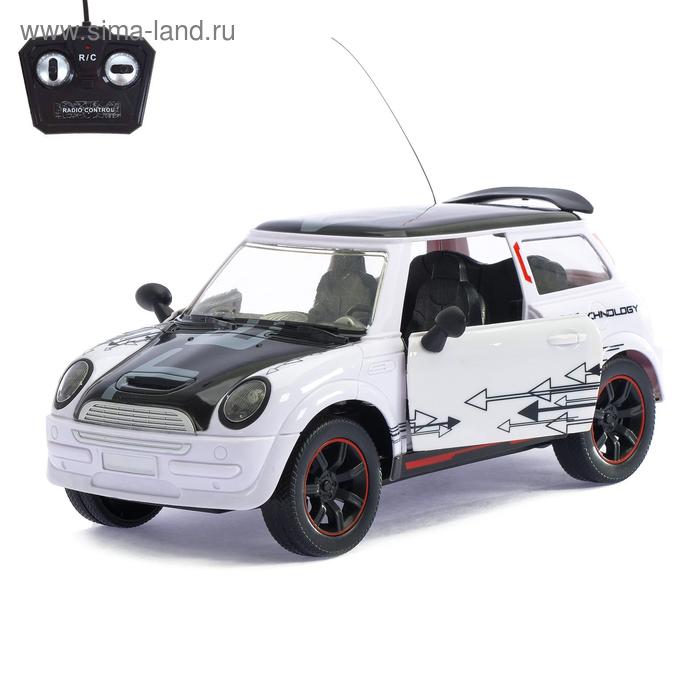 """Машина радиоуправляемая """"Купер"""", масштаб 1:16, световые эффекты, работает от аккумуляторов, цвета МИКС"""