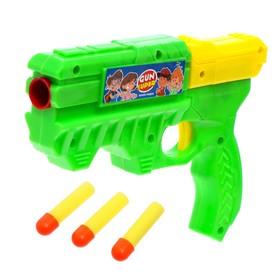Пистолет «Бластер», стреляет мягкими пулями, цвета МИКС Ош