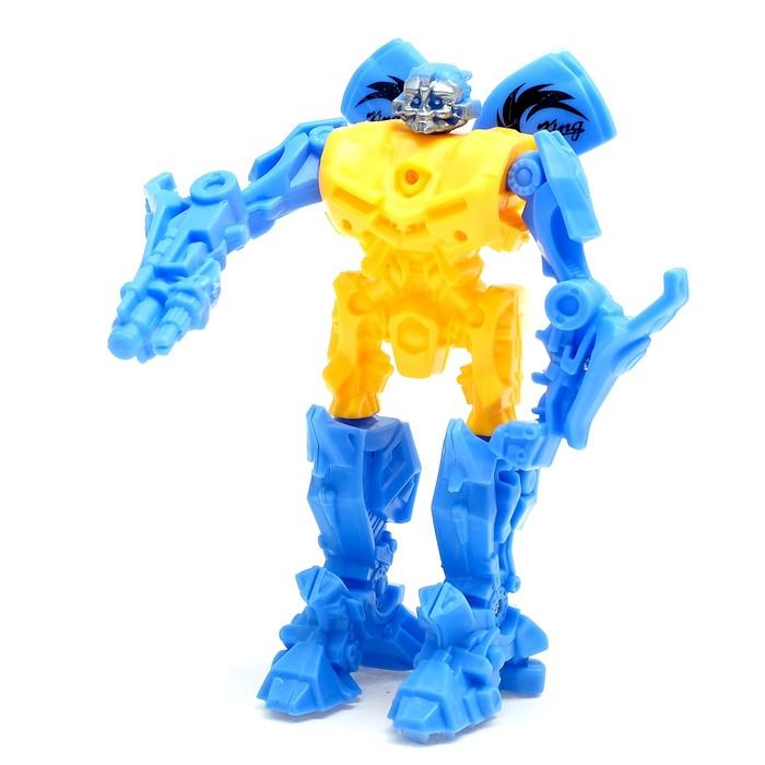 """Робот """"Космический защитник"""", световой эффект, работает от батареек, цвета МИКС"""