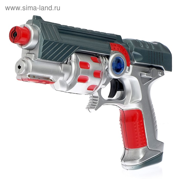 """Пистолет """"Суперпушка"""", световые и звуковые эффекты, работает от батареек"""