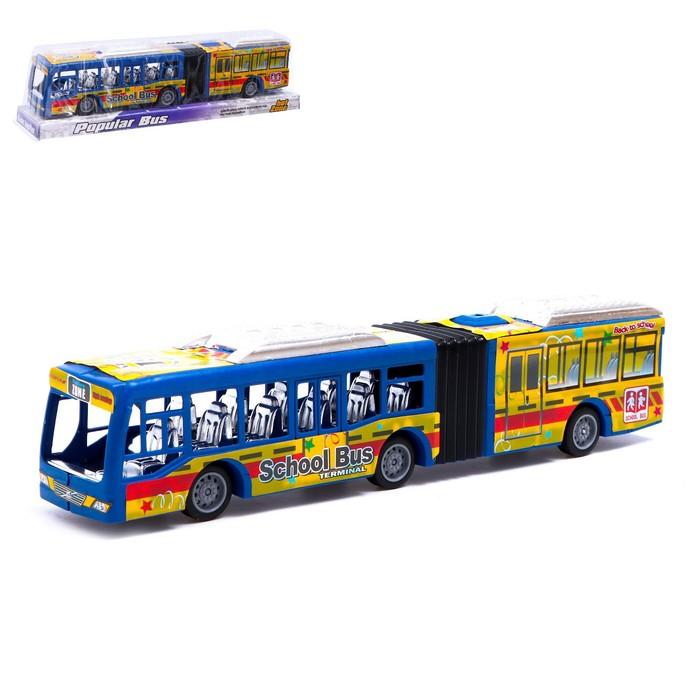 Автобус инерционный «Городской», цвета МИКС - фото 105656422