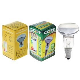 "Лампа накаливания ""Старт"" R50, Е14, 60 Вт, 230 В, тёплый белый"