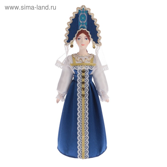 """Сувенирная кукла """"Елена в традиционном праздничном костюме. Россия"""""""