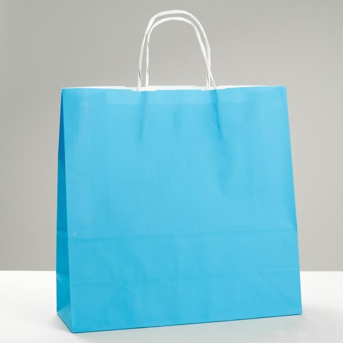 "Пакет крафт ""Радуга"" голубой, 32 х 12 х 32 см"