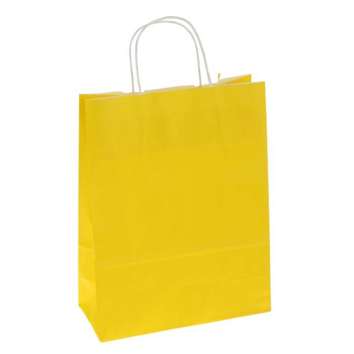 """Пакет крафт """"Радуга"""" желтый, 25 х 11 х 32 см"""
