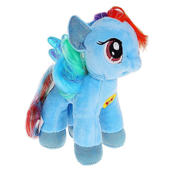 Мягкая музыкальная игрушка «Пони Рэйнбоу», 18 см