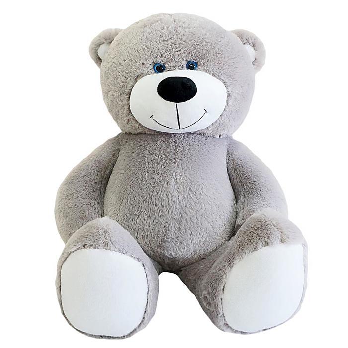 """Мягкая игрушка """"Мишка Барни"""", цвет серый, 105 см"""