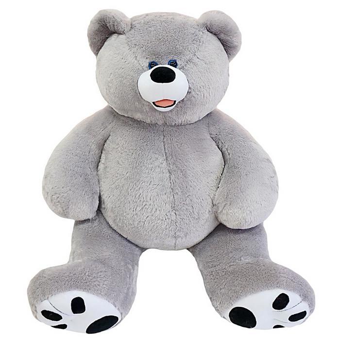 Мягкая игрушка «Мишка Патрик», цвет серый, 140 см