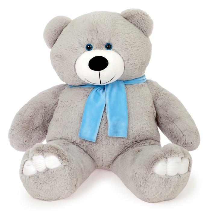 Мягкая игрушка «Мишка Олимп», 110 см, цвет серый