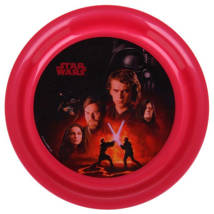 """Тарелка 19 см """"Звёздные Войны"""", цвет бордовый"""