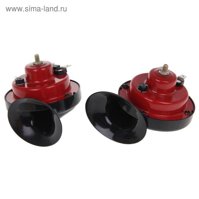 Сигнал автомобильный, пневматический, 12 В, 4 A, 110 дБ, 410 Гц, набор 2 шт.