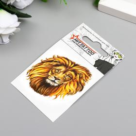 """Татуировка на тело """"Голова льва"""""""