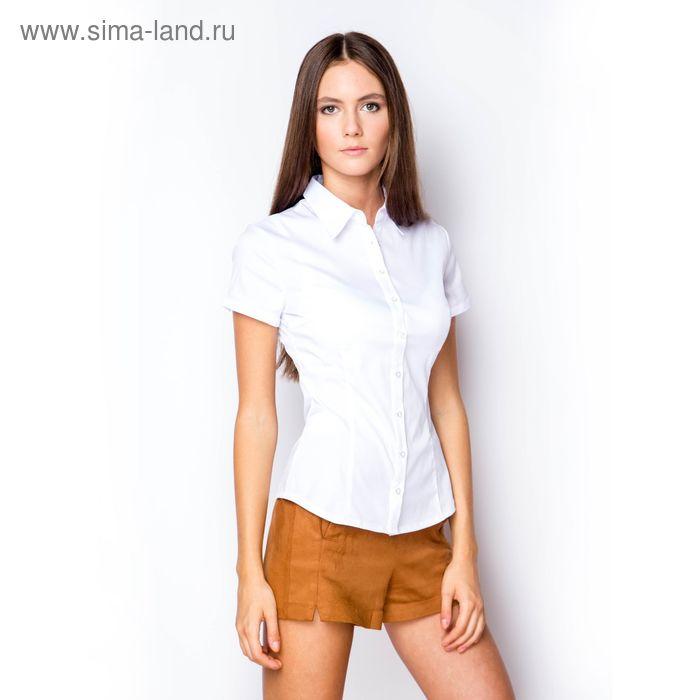 Блузка женская с коротким рукавом (905-132193-1), размер 48, цвет белый