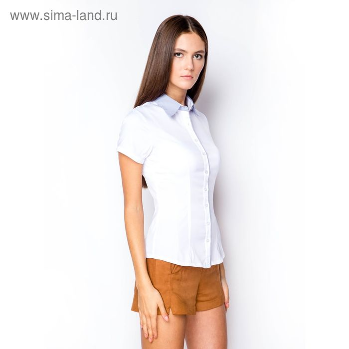 Блузка женская с коротким рукавом (905В-132155-1), размер 40, цвет белый