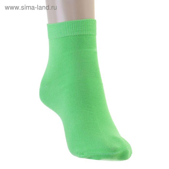 Носки женские, размер 25 (размер обуви 38), цвет зеленый 12232