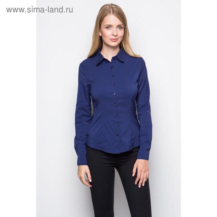 Блузка женская с длинным рукавом (905-132185), размер 40, цвет тёмно-синий
