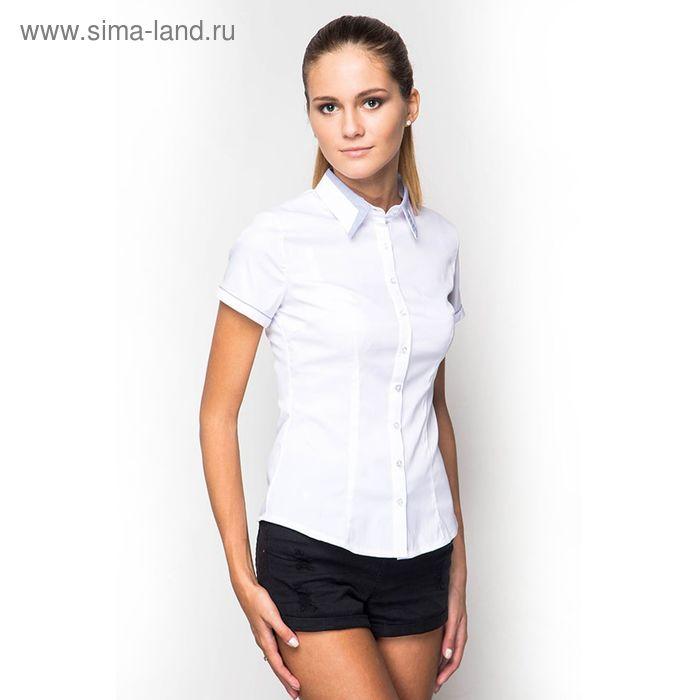Блузка женская с коротким рукавом (905В-132158-1), размер 46, цвет белый
