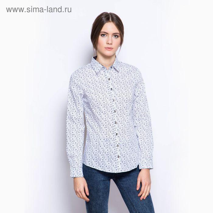 Блузка женская с длинным рукавом, размер 50, цвет белый (арт. 1583 С+)