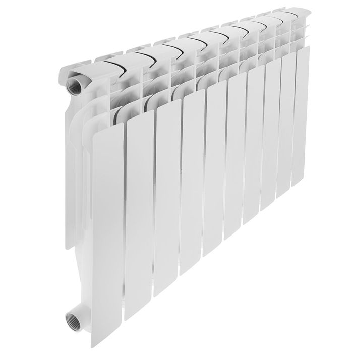 Радиатор алюминиевый Oasis, 500 × 80 см, 10 секций, литой