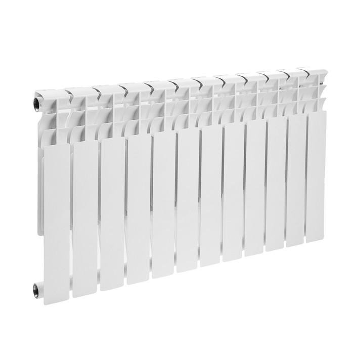 Радиатор биметаллический Oasis, 500х80 мм, 12 секций