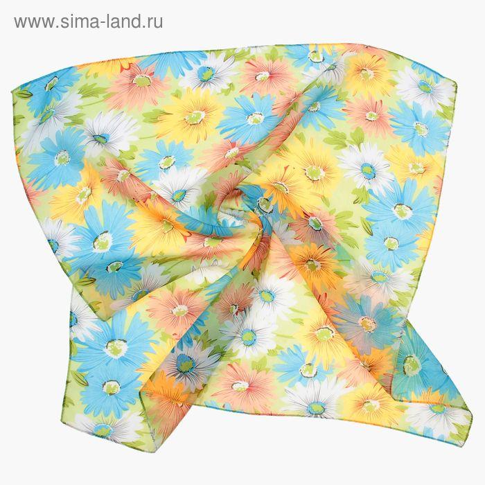 """Платок женский """"Летняя полянка"""", размер 70х70 см"""