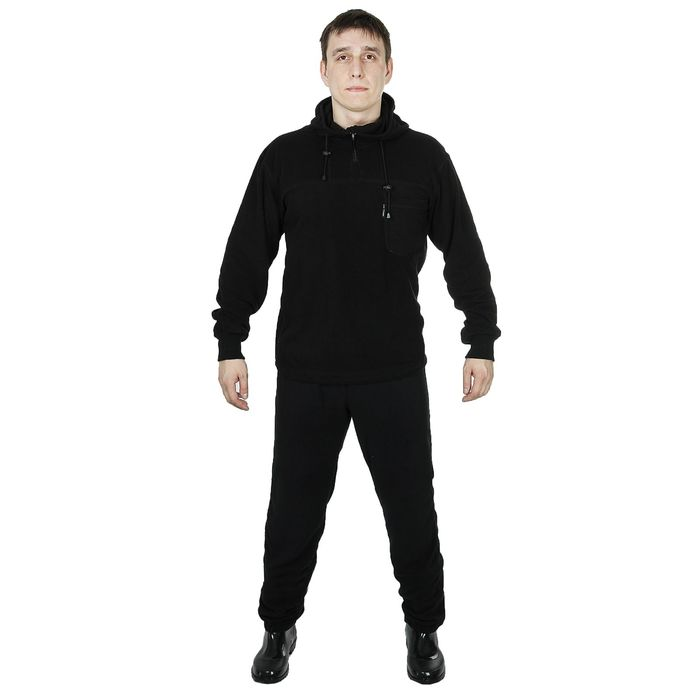 Костюм флисовый ThermoLine, размер 60-62, рост 184, цвет чёрный