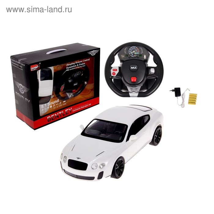 Машина на радиоуправлении Bentley Continental, GYRO-руль, масштаб 1:14, МИКС