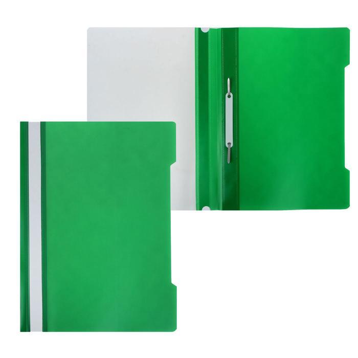 Папка-скоросшиватель А4, 120/160мкм ЭКОНОМ, зеленая