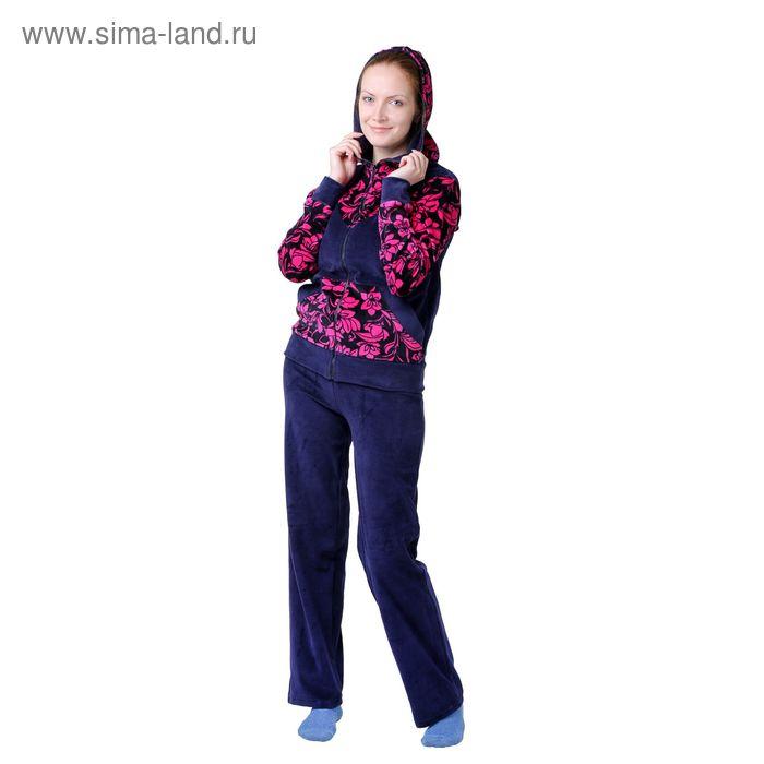 Костюм женский К-31 малина, р-р 48 велюр