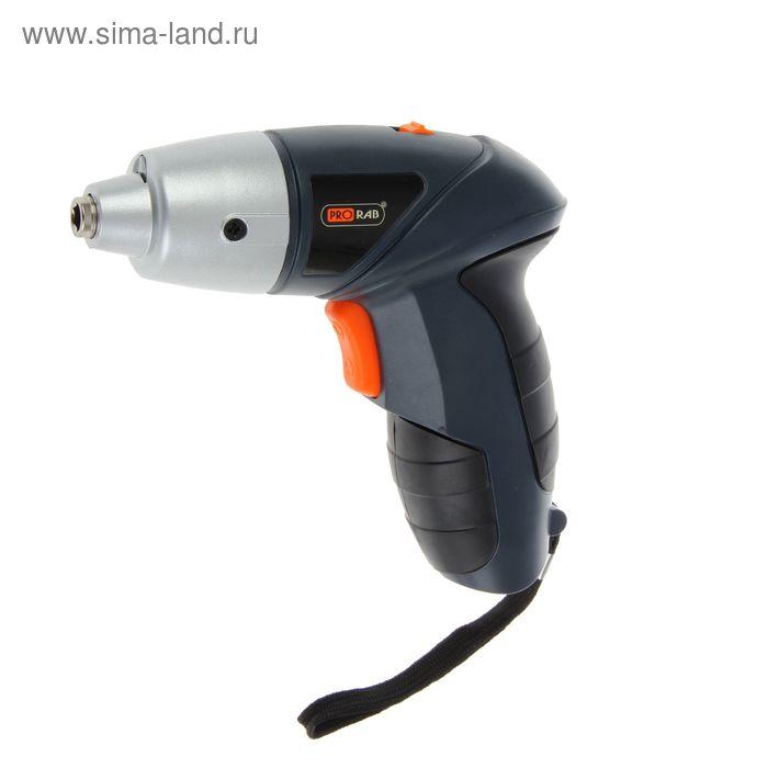 Отвертка аккумуляторная Prorab 1100 Bт, 4.8 В, 180 об/мин, заряд 3-5 ч