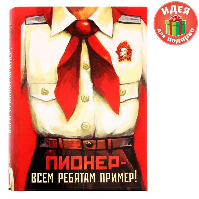 """Ежедневник на кольцах """"Пионер - всем ребятам пример!"""", твёрдая обложка, 120 листов"""