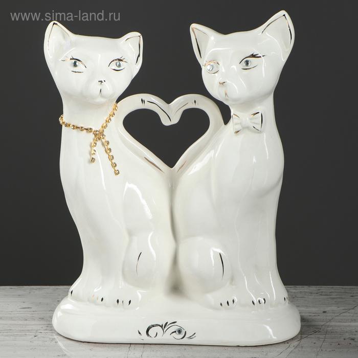 "Копилка ""Коты-аристократы"" глазурь, белая"
