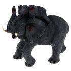 """Садовая фигура """"Слон со слонёнком на спине"""""""
