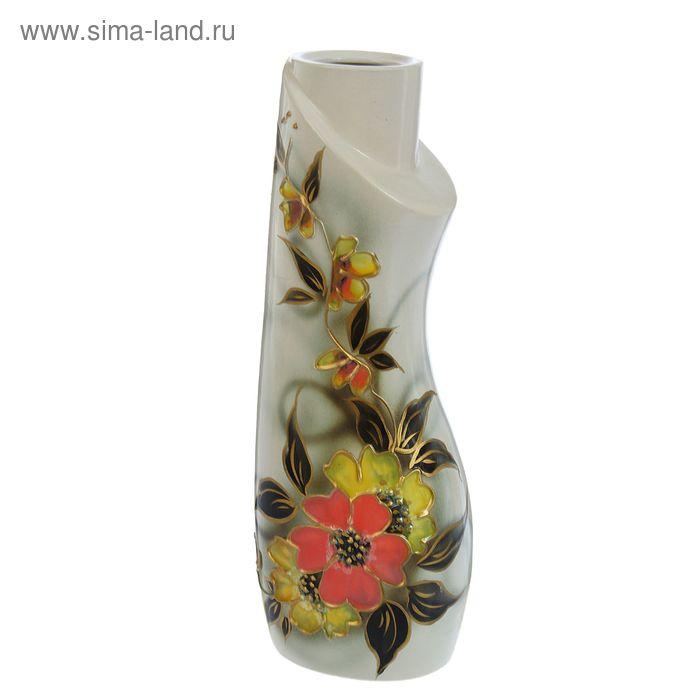 """Ваза """"Лагуна"""" задувка, цветы"""