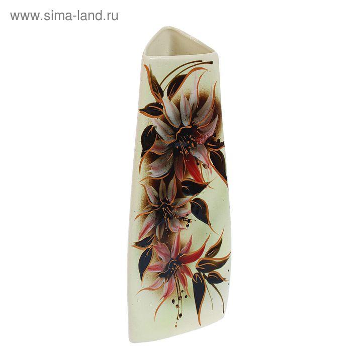 """Ваза """"Анна"""" глазурь, цветы"""