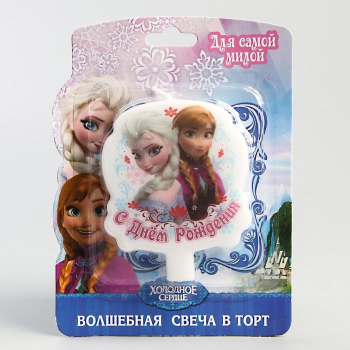 """Свеча в торт Дисней """"С днем рождения"""" Холодное сердце - фото 35610012"""
