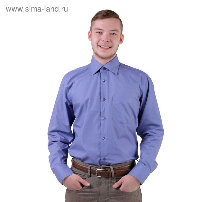 Сорочка мужская BIG BEN К-30 1107-S, размер 40-176-182, цвет синий
