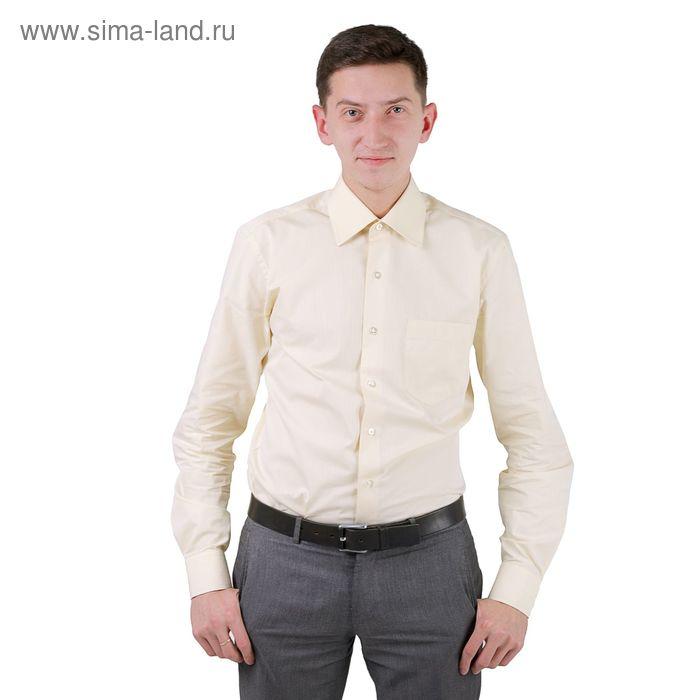Сорочка мужская BIG BEN К-34 0404-S, размер 42-182-188, цвет шампань