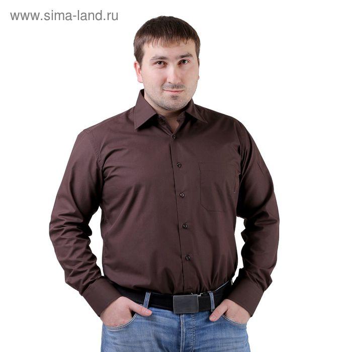 Сорочка мужская BIG BEN К-33 1113-S, размер 39-176-182, цвет шоколад