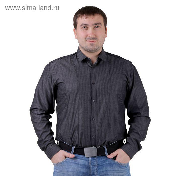 Сорочка мужская BIG BEN К-32 104-S, размер 39-182-188, цвет серый