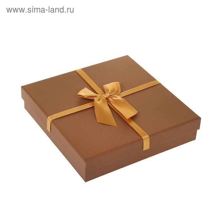 """Коробка подарочная """"Классика"""", цвет коричневый"""