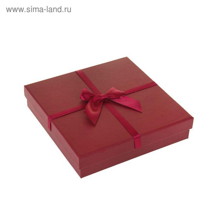"""Коробка подарочная """"Классика"""", цвет бордовый"""